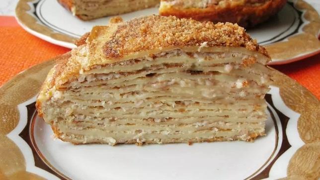 Торт «Пушинка» с нежнейшим сметанным кремом без выпечки