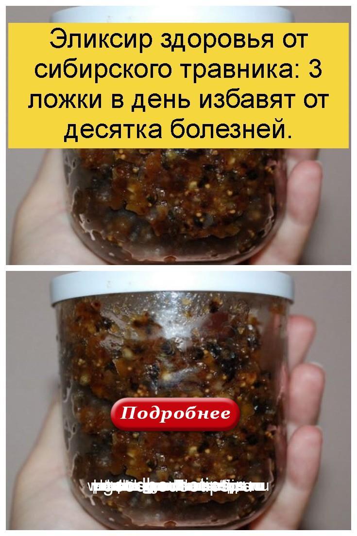 Эликсир здоровья от сибирского травника: 3 ложки в день избавят от десятка болезней 4
