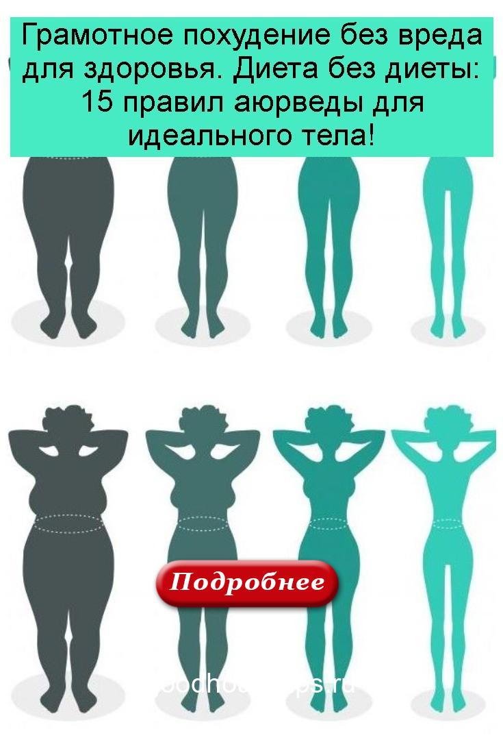 Грамотное похудение без вреда для здоровья. Диета без диеты: 15 правил аюрведы для идеального тела 4
