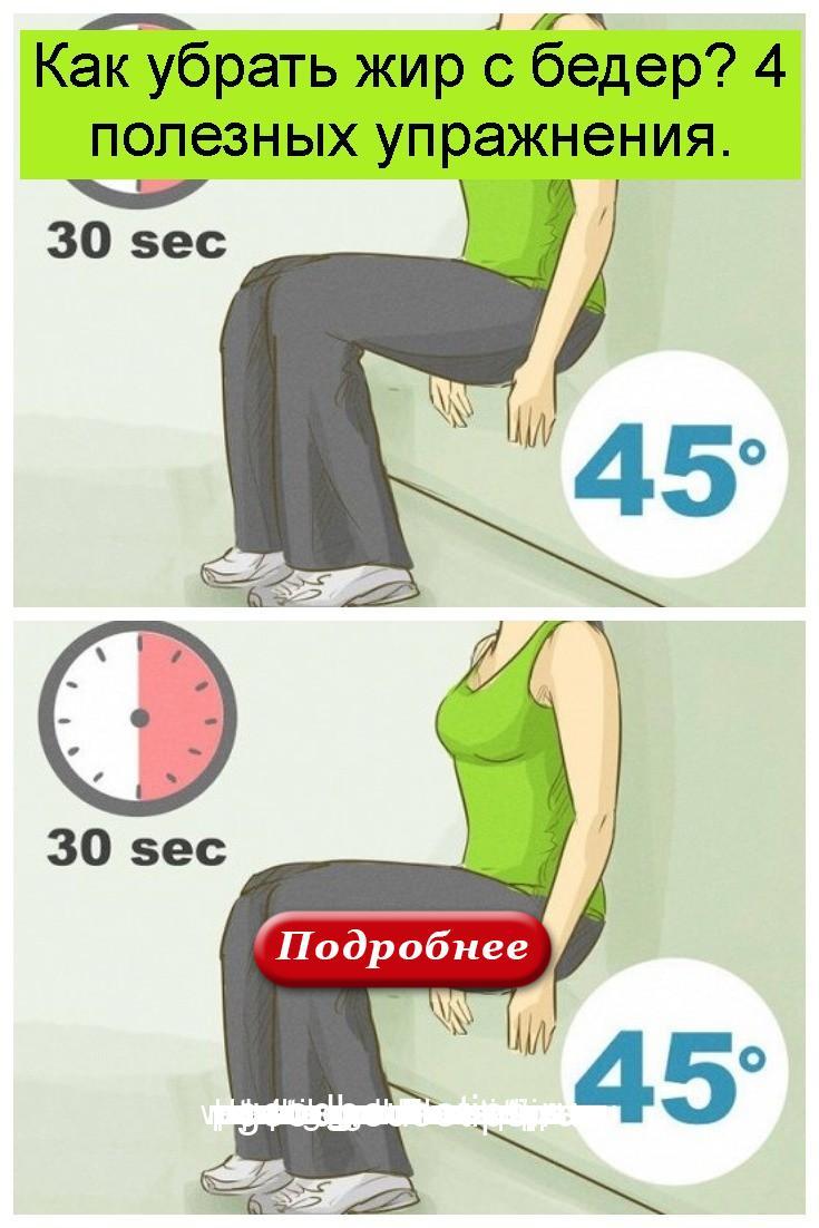 Как убрать жир с бедер? 4 полезных упражнения 4