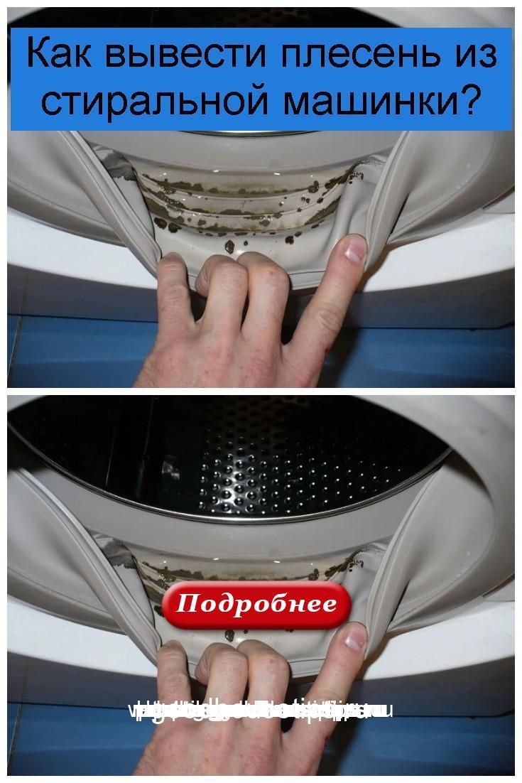 Как вывести плесень из стиральной машинки 4