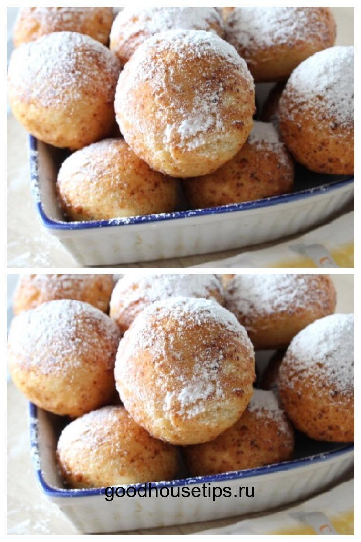 Лучший рецепт творожных пончиков с малиновым джемом