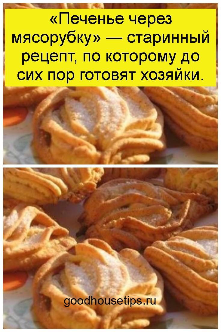 «Печенье через мясорубку» — старинный рецепт, по которому до сих пор готовят хозяйки 4
