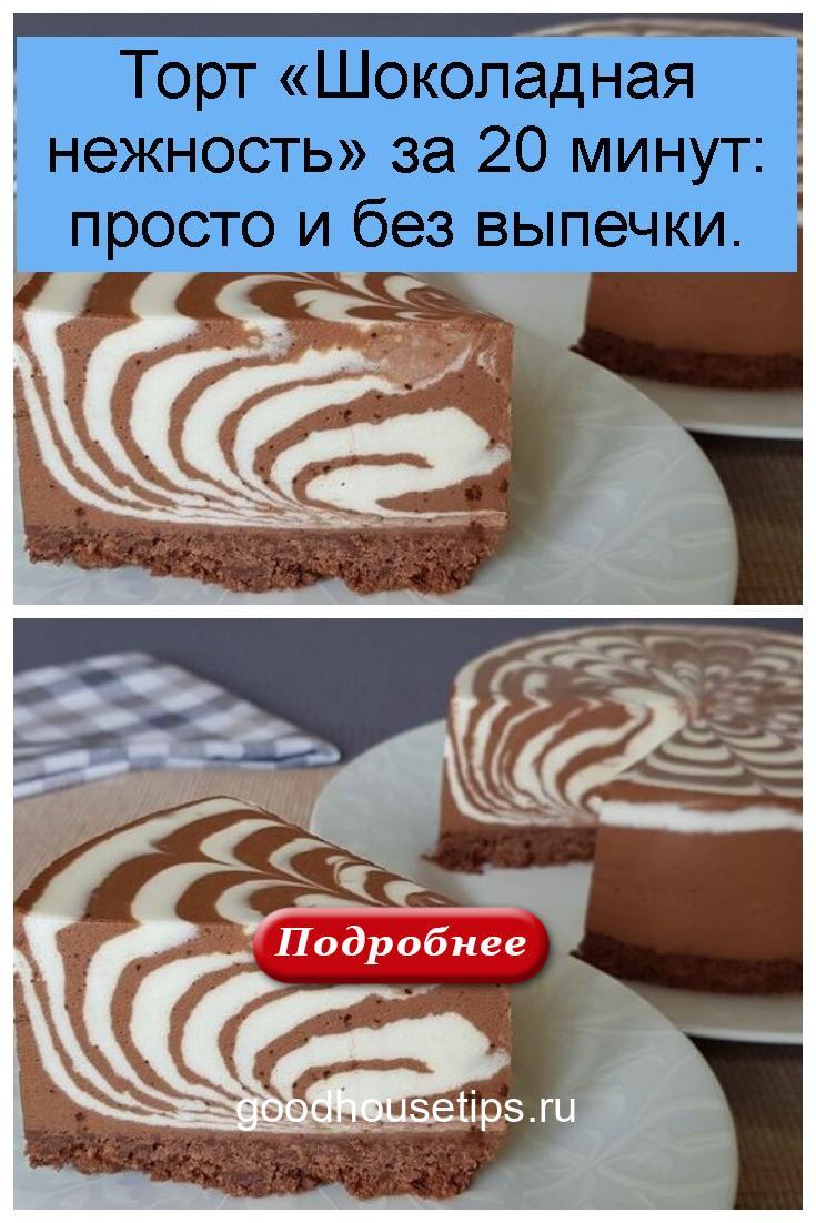 Торт «Шоколадная нежность» за 20 минут: просто и без выпечки 4