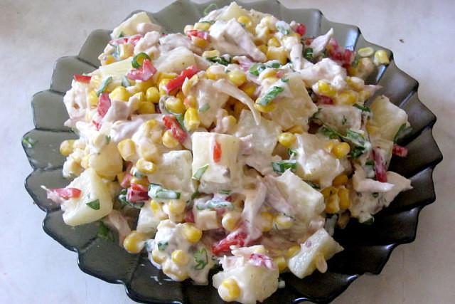 Вкусный и не сложный в приготовлении салатик.