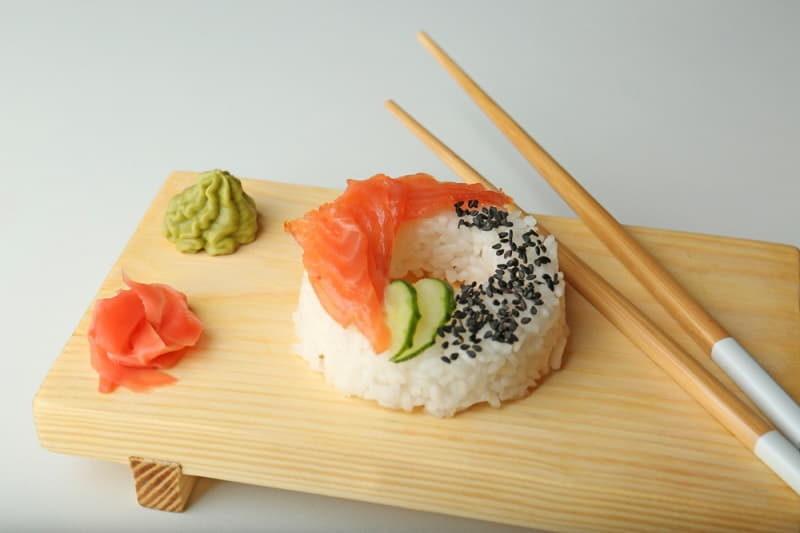 sushi-doughnut-on-white-background